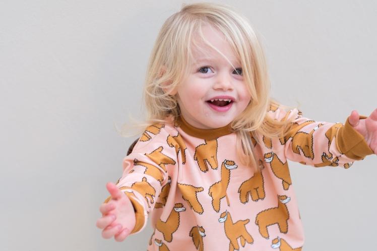 Eva Mouton Alpaca Bambiblauw