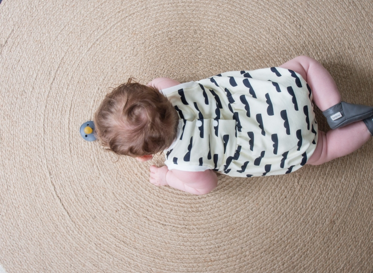 baby romper blos3 about blue fabrics