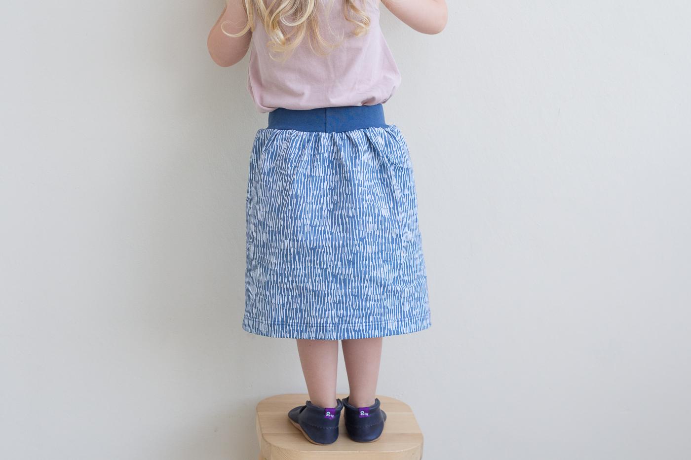 panther rain skirt about blue fabrics